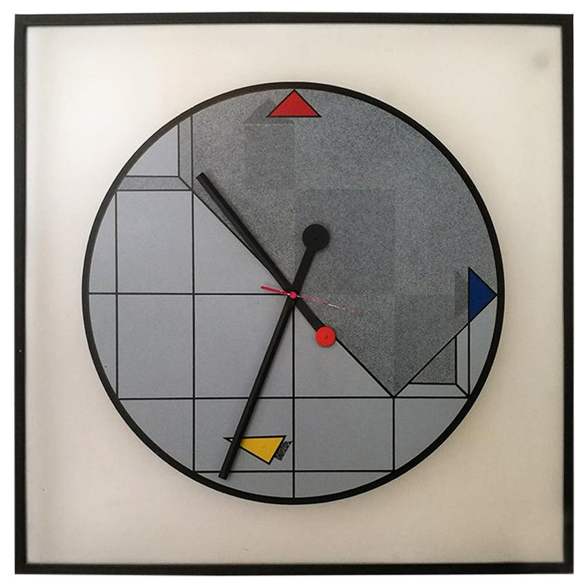 Vintage Wall Clock by Kurt B. Delbanco for Morphos, 1980s