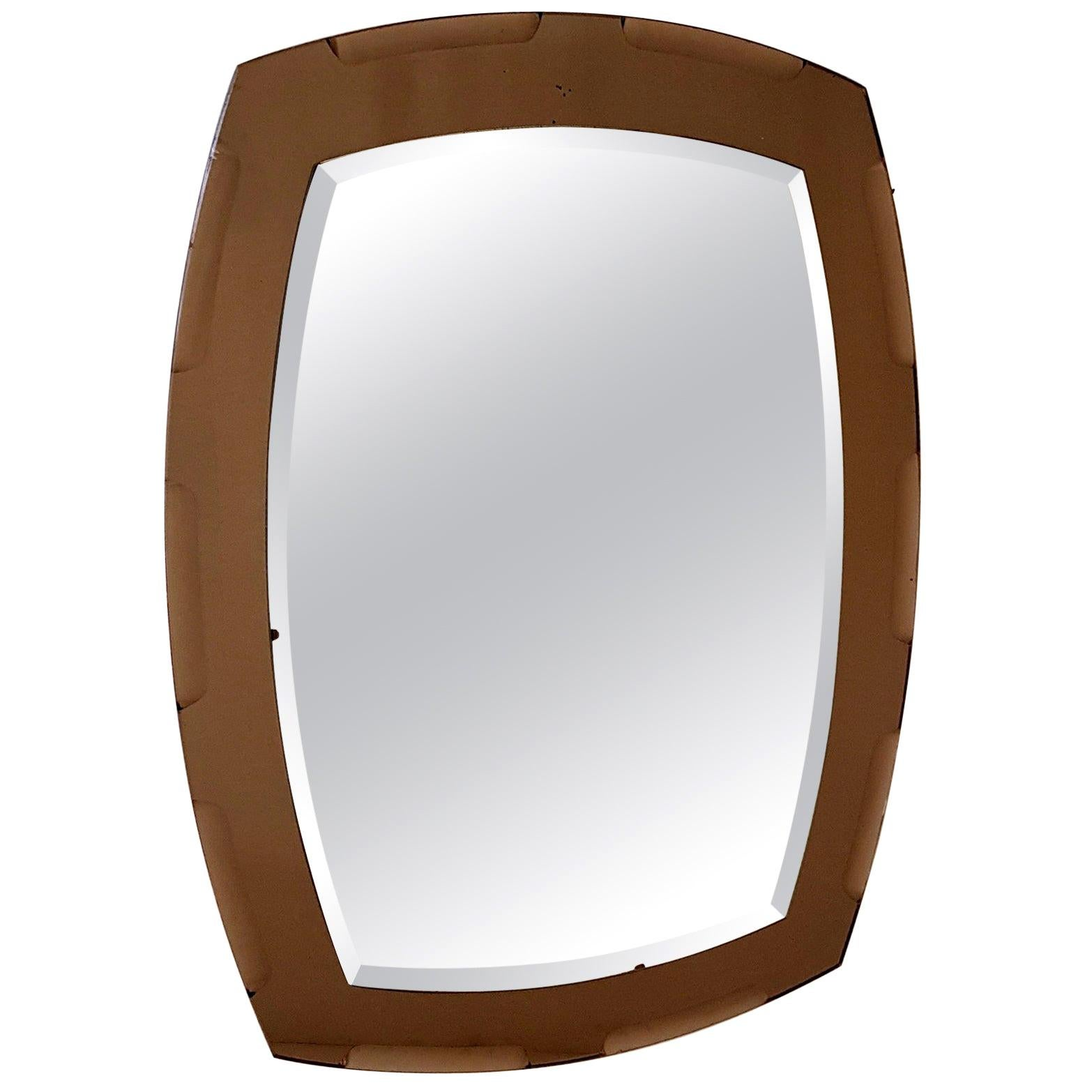 Vintage Wall Mirror by Lupi Cristal-Luxor, Italy
