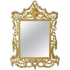 Vintage Wall Mirror, English, Rococo Revival Manner, Art Deco Period, circa 1940