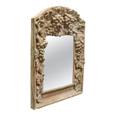 Vintage Wall Mirror, French, Plaster, Hall, Overmantle, 20th Century, circa 1950
