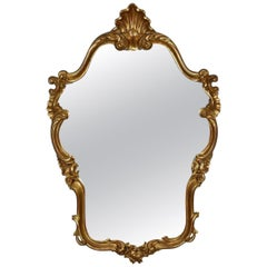 Vintage Wall Mirror, Victorian Rococo Revival Manner, English, Late 20th Century