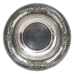 Vintage Wallace Sterling Silver Repousse Serving Bowl, circa 1930