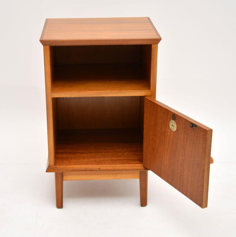 Mid-Century Modern Vintage Walnut Bedside Cabinet by Alfred Cox For Sale