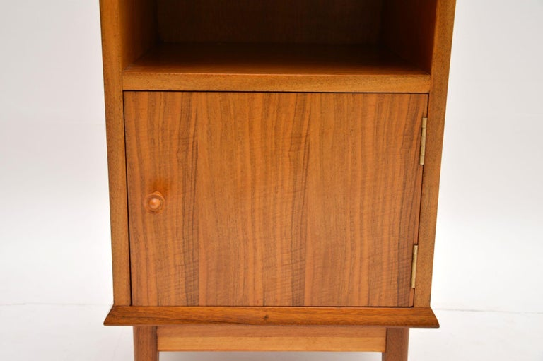 British Vintage Walnut Bedside Cabinet by Alfred Cox For Sale