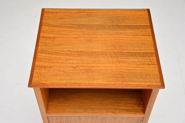 Mid-20th Century Vintage Walnut Bedside Cabinet by Alfred Cox For Sale