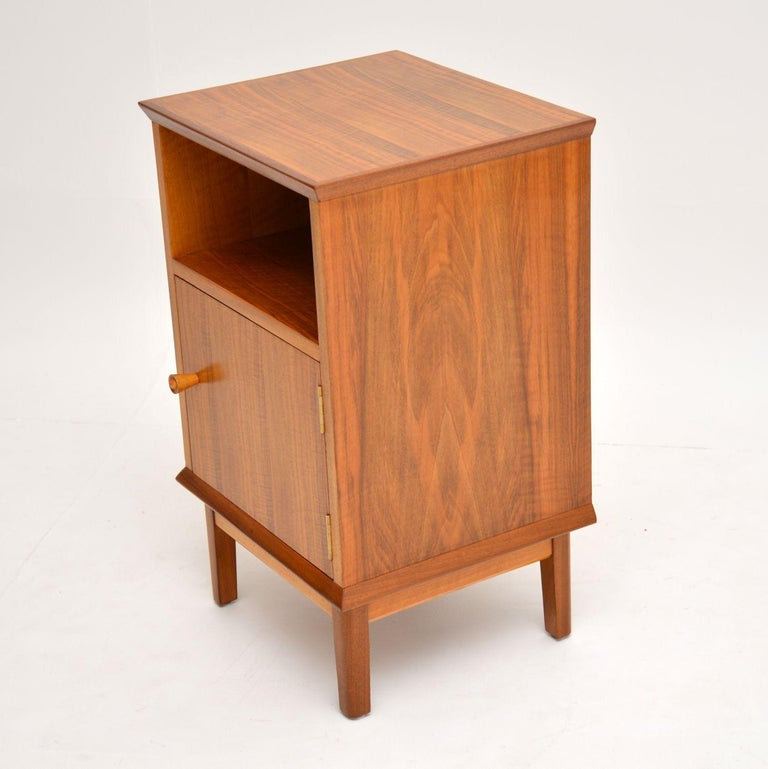 Vintage Walnut Bedside Cabinet by Alfred Cox For Sale 1