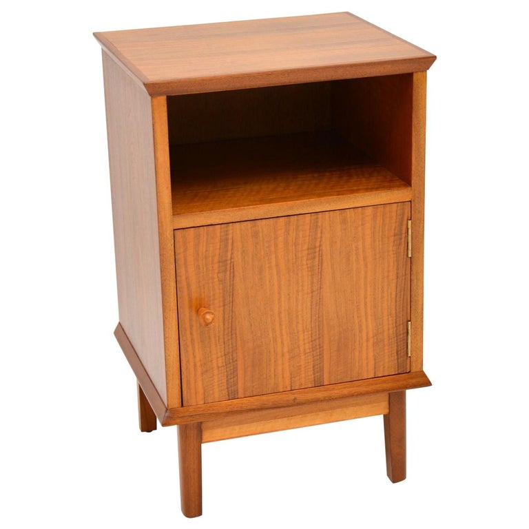 Vintage Walnut Bedside Cabinet by Alfred Cox For Sale