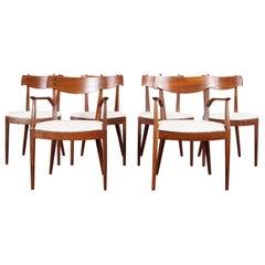 Vintage Walnut Dining Chairs by Kipp Stewart