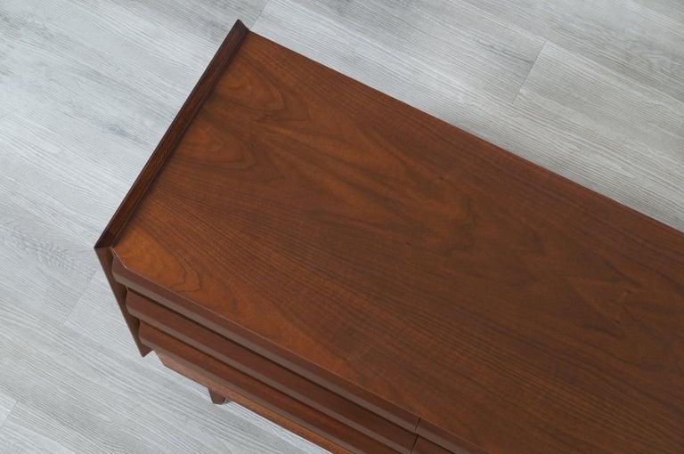 Vintage Walnut Dresser by Lane For Sale 5