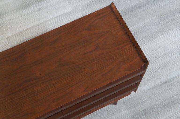 Vintage Walnut Dresser by Lane For Sale 6