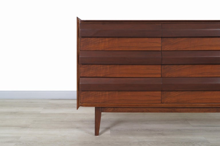 Vintage Walnut Dresser by Lane For Sale 2