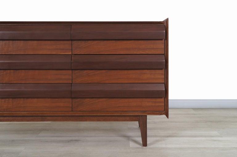 Vintage Walnut Dresser by Lane For Sale 3