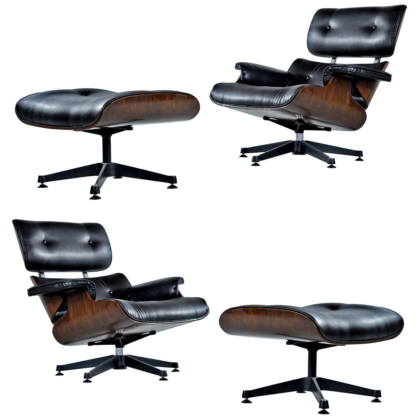 Remarkable Andoo Lounge Chair In Black Leather And Walnut By Eoos And Walter K Ncnpc Chair Design For Home Ncnpcorg