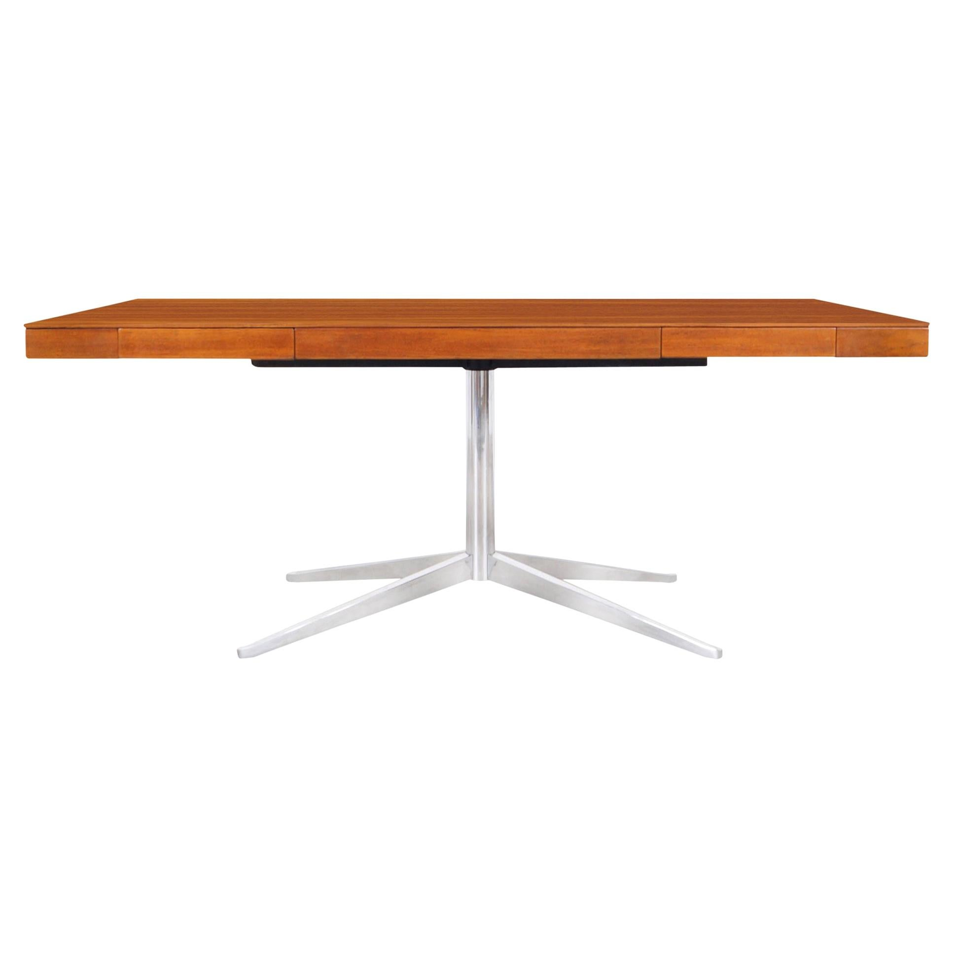 Vintage Walnut Executive Desk by Florence Knoll