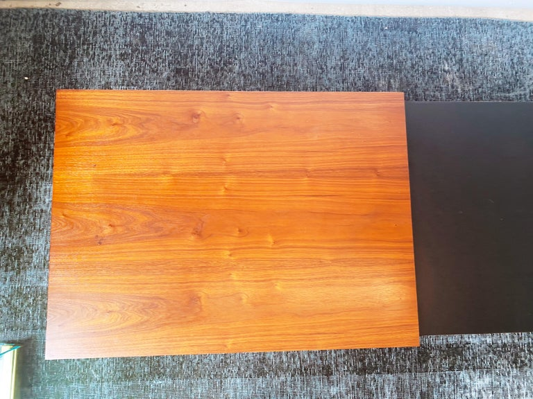 Vintage Walnut Expandable Coffee Table by John Keal for Brown Saltman, c. 1960s For Sale 4