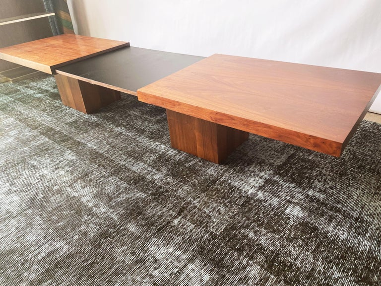 Vintage Walnut Expandable Coffee Table by John Keal for Brown Saltman, c. 1960s For Sale 5