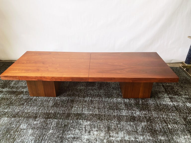 Vintage Walnut Expandable Coffee Table by John Keal for Brown Saltman, c. 1960s For Sale 7