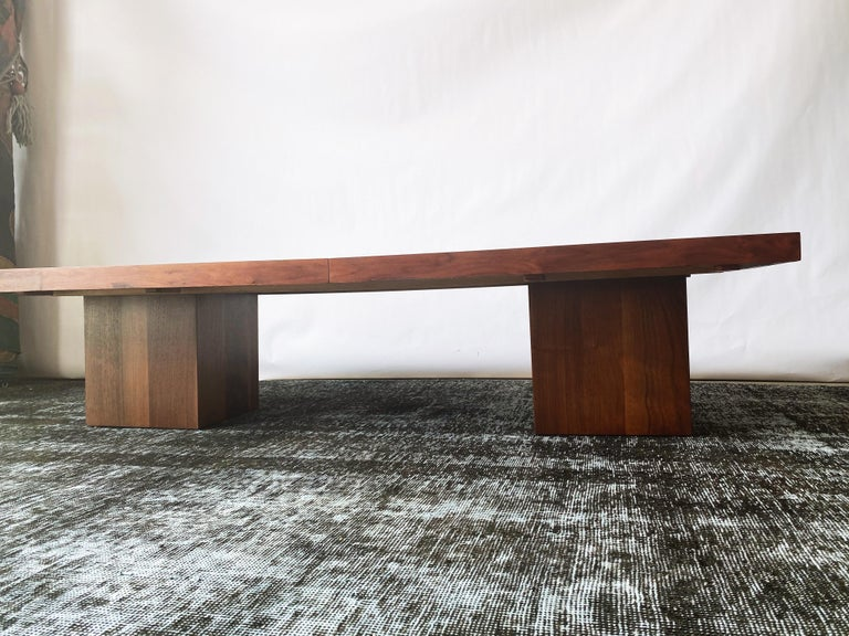 Laminate Vintage Walnut Expandable Coffee Table by John Keal for Brown Saltman, c. 1960s For Sale