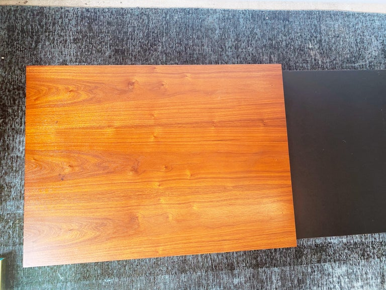 Vintage Walnut Expandable Coffee Table by John Keal for Brown Saltman, c. 1960s For Sale 2