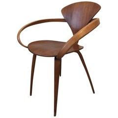 Vintage Walnut Pretzl Chair by Norman Cherner for Plycraft