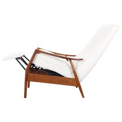 Vintage Walnut Reclining Lounge Chair by Milo Baughman