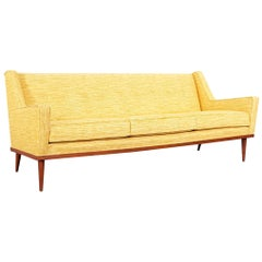 Vintage Walnut Sofa by Milo Baughman for James Inc.