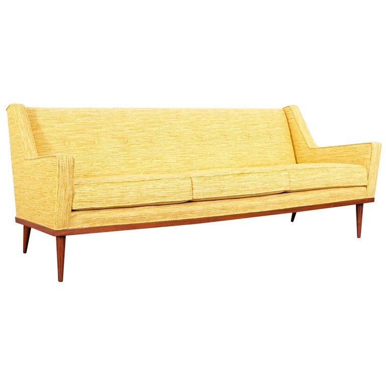 Vintage Walnut Sofa by Milo Baughman for James Inc. For Sale