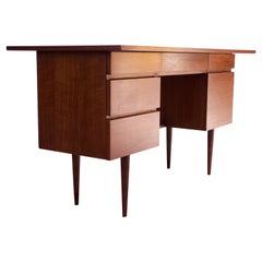 Vintage Walnut Student Desk by Mel Smilow