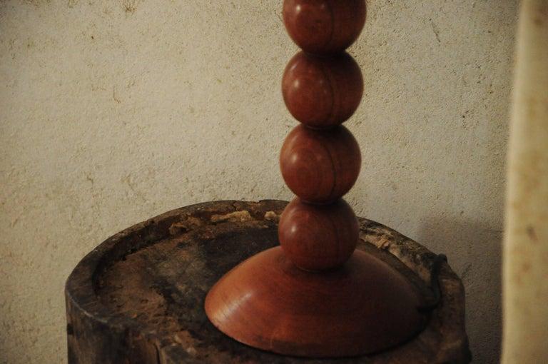 Mid-Century Modern Vintage Walnut Table Lamp