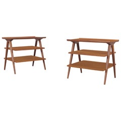 Vintage Walnut Tables by Merton L. Gershun for American of Martinsville