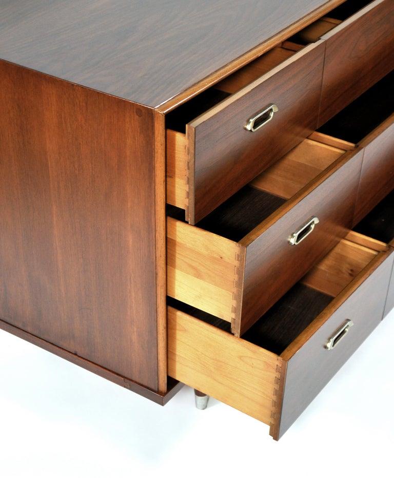 Vintage Walnut Triple Dresser by BP John, c. 1962 For Sale 3