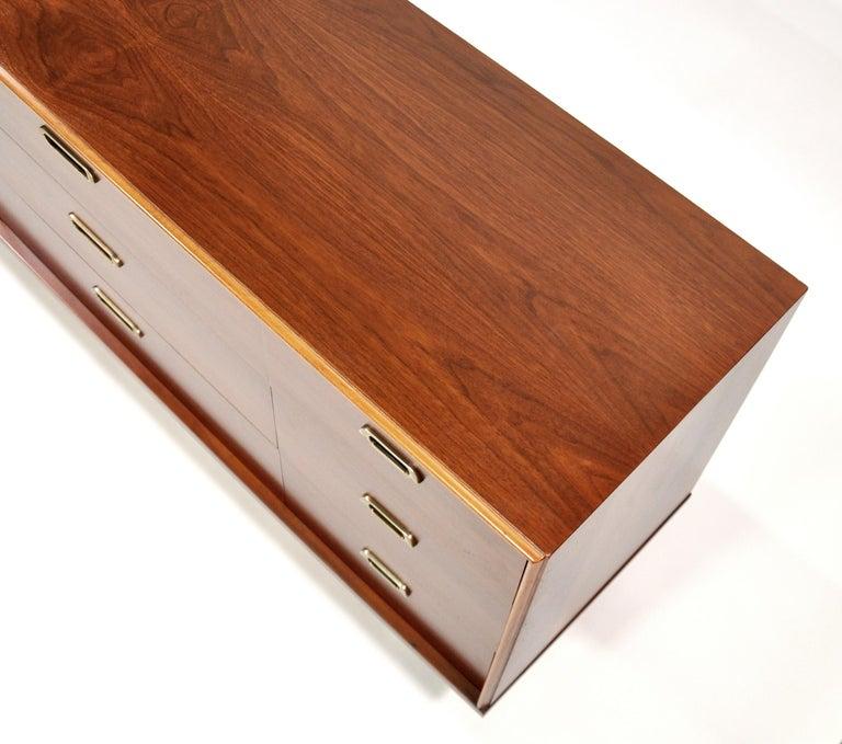 Vintage Walnut Triple Dresser by BP John, c. 1962 For Sale 10