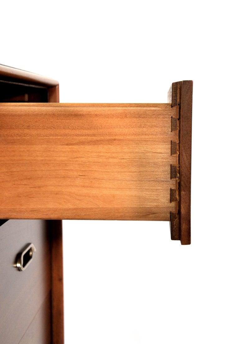 Vintage Walnut Triple Dresser by BP John, c. 1962 For Sale 12