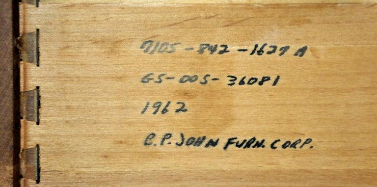 Vintage Walnut Triple Dresser by BP John, c. 1962 For Sale 13