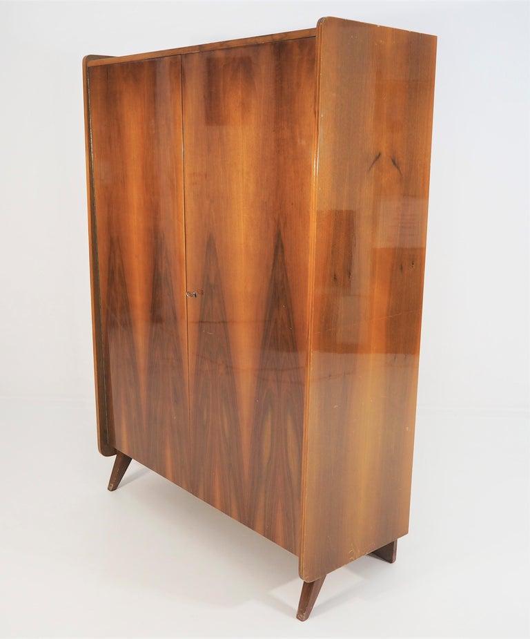 Late 20th Century Vintage Walnut Wardrobe from Tatra, circa 1960s For Sale