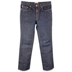 Vintage WALTER VAN BEIRENDONCK x W.&L.T. Size 34 Indigo Denim Jeans