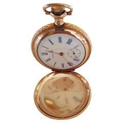 Vintage Waltham Pocket Watch, Gold Filled, Working, Pristine, 1907, 15 Jewel