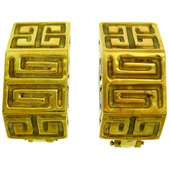 Vintage Wander Yellow Gold Earrings France Clip-On, 1980s