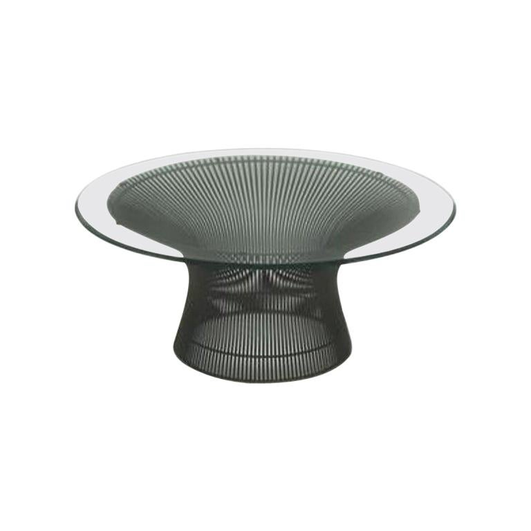 Vintage Warren Platner Wire and Glass Coffee Table by Knoll
