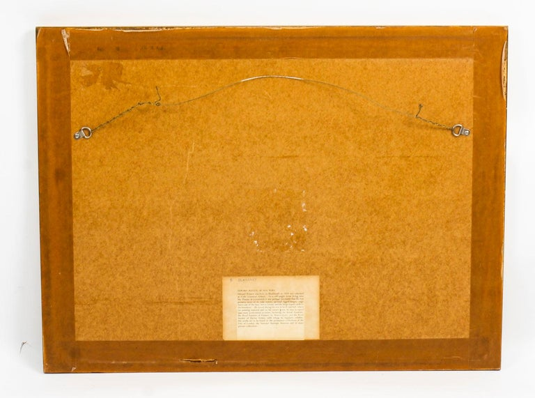Vintage Watercolor Landscape by Edward Wesson, Mid-20th Century For Sale 1