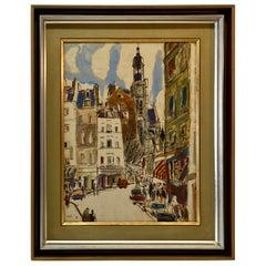 "Vintage Watercolor Painting ""Methode, Paris"" by Chen, C.1965"