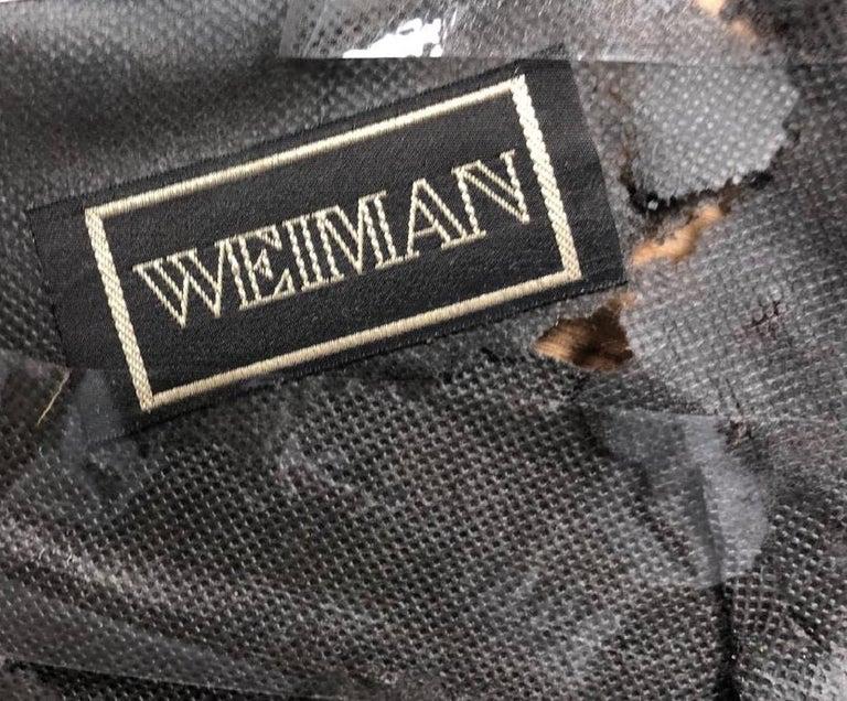 Italian Vintage Weiman-Warren Velvet & Brass X-Base Ottoman, Glamour Stool, Bench For Sale