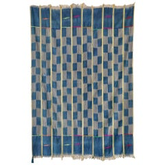 Vintage West African Handwoven Strip Weaving