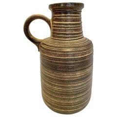 Vintage West German Striped Pottery Vase