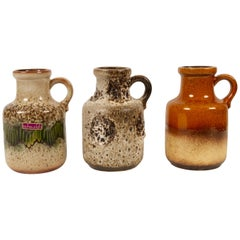 Vintage West Germany Vases Set of 3, 1970s