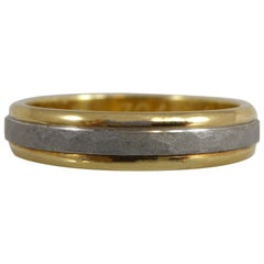 Vintage White and Yellow Gold Ring with Millennium Hallmark