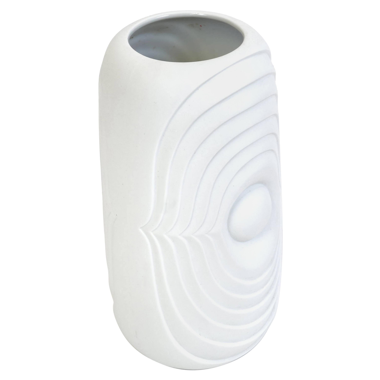 Vintage White Bisque Fine Bone Porcelain Vase by KPM Berlin, Germany, 1960s