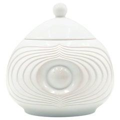 Vintage White Bisque German Fine Bone Porcelain Jar by KPM, circa 1960s