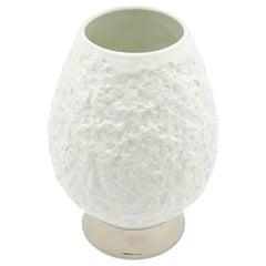 Vintage White Bisque German Fine Bone Porcelain Vase by KPM, circa 1960s