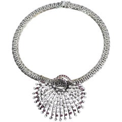Vintage White Gold and Diamonds Necklace